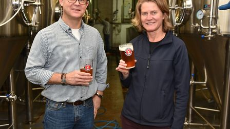 Redwell Brewery is under new ownership.One of the new owners Warren Thorp with head brewer Belinda J