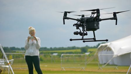 The Cereals 2018 event at Chrishall Grange, Cambridgeshire. Pictured: The Drone Zone. Picture: Chris