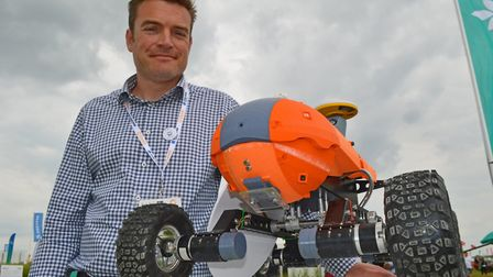 The Cereals 2018 event at Chrishall Grange, Cambridgeshire. Pictured: Joe Allnutt of the Small Robot