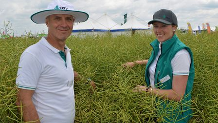The Cereals 2018 event at Chrishall Grange, Cambridgeshire. Pictured: Mike Mann and Sarah Hawthorne