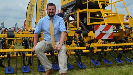 The Cereals 2018 event at Chrishall Grange, Cambridgeshire. Pictured: Oliver Claydon of Claydon Dril