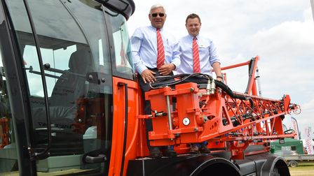 The Cereals 2018 event at Chrishall Grange, Cambridgeshire. Pictured, Neal and Thomas Sands of Sands