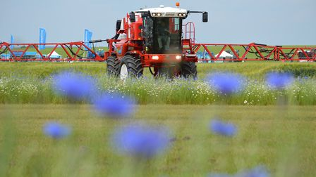 The Cereals 2018 event at Chrishall Grange, Cambridgeshire. Pictured: The Sprays and Sprayers Arena.