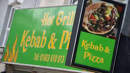 Hot Grill Kebab and Pizza shop, Norwich.Picture: ANTONY KELLY