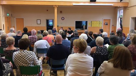 About 50 people attended a meeting called by Sewell Community Group and Friends at Silver Road Commu