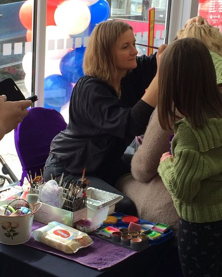 Captain Jack Sparrow helps out with the opening of One Stop in Cromer. Facepainting. Picture: DONNA-