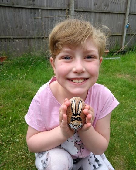 Nine-year-old Amy Foster, from Sprowston, was among the lucky people to find a Hares Rock when she s