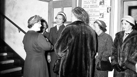 The Queen Mother visiting the guildhall in 1957. Picture: Archant