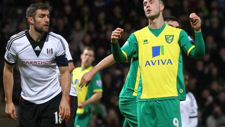 Ricky van Wolfswinkel endured a painful trip to Fulham Picture: Paul Chesterton/Focus Images Ltd