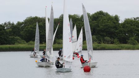 Action from Hickling Broad Sailing Club last weekend. Picture: Ian Symonds