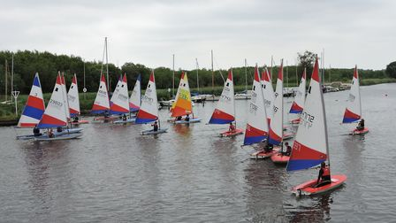 Action from Horning at the weekend. Picture: Holly Hancock