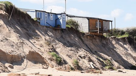 The cliffs at Hemsby which were eroded by the Beast from the East Picture: DENISE BRADLEY