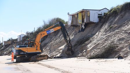 One of the homes which had to be demolished. Picture: DENISE BRADLEY