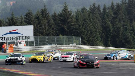 Josh Files chasing fifth place in the opening TCR Europe race at the Spa-Francorchamps circuit prior