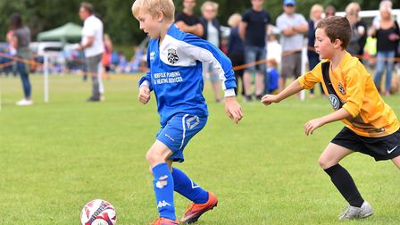 Action from the Costessey Sports Club 5-A-Side Tournament.Waveney Under 8's V Mattishall (blue0Pictu