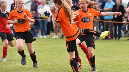 Action from the Costessey Sports Club 5-A-Side Tournament. Bawdswell Under 11's v Costessey Picture: