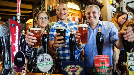 Clive Lewis enjoying a pint in The Murderers Photo: JASON BYE / contributed