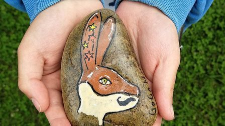 The first Hares Rock was uncovered on Saturday morning, when Archie and Oscar Johnson, aged six and