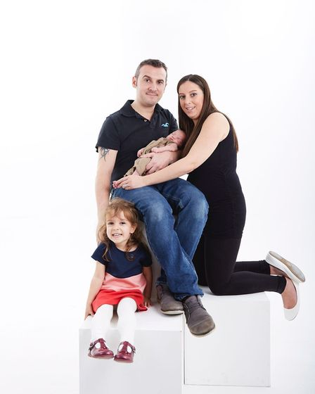 The Barlett family; parents George and Emma with Annabelle and baby Harry. Picture www.gh-photograph
