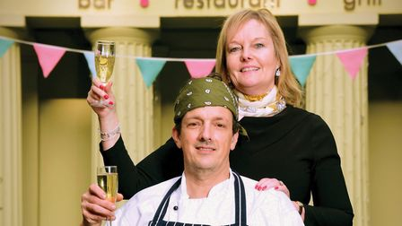 Jayne and Nigel Raffles at The Library Restaurant. Picture: Simon Finlay Photography.