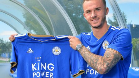 James Maddison has sealed a Premier League move to Leicester City Picture: LCFC/Plumb Images via Get