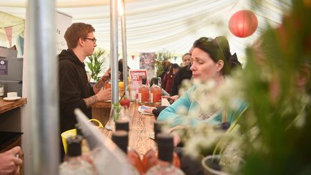 Inside the EDP tent at last year's show.Picture: ANTONY KELLY