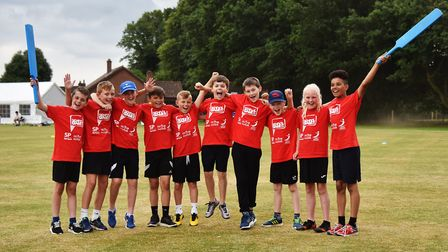 Summer School Games 2018. Kwik-Cricket at Horsford. The team from Firside Junior School.Picture: ANT