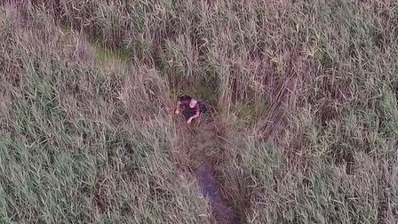 The dramatic moment a police drone found Peter Pugh, aged 75, a day after he was reported missing fr