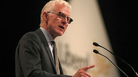 Norman Lamb MP speaks at the Liberal Democrats Autumn conference in Brighton, Sussex.
