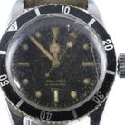 Star of the show: the Rolex Submariner 'Big Crown' watch from around 1956 - bidding will open at £40