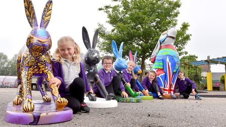 Mile Cross Primary School pupils are among the children looking forward to the GoGoHares trailPictur