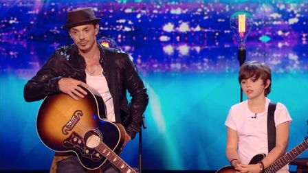 Britain's Got Talent finalists Jack and Tim Goodacre, from Eccles, Norfolk. PHOTO: ITV.