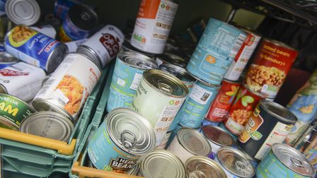 The King's Lynn Foodbank - Supplies on the shelves Picture: Matthew Usher.