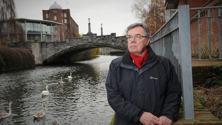 Alec Hartley, whose hopes of getting new life breathed into the River Wensum is on the brink of beco