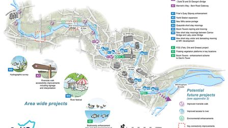 The projects which the River Wensum Strategy proposed. Pic: River Wensum Strategy Partnership