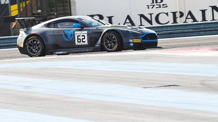 Alex Brundle in the R Motorsport Aston Martin V12 Vantage at the French Paul Ricard Circuit which he