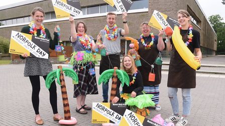 Staff at the Enterprise Centre and Mustard Café at the UEA will be having a Hawaiian beach theme for