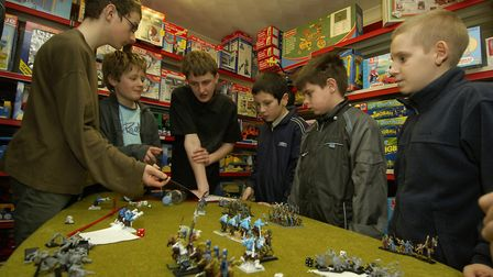 Youngsters playing tabletop game Warhammer Picture: Angela Sharpe