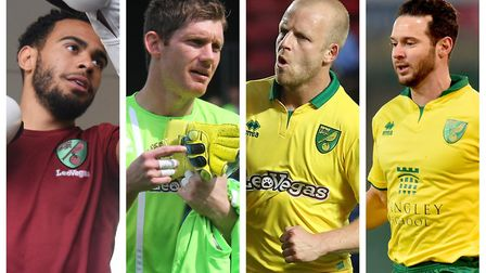 Four players who may have a big summer ahead. From left: Louis Thompson, Michael McGovern, Steven Na
