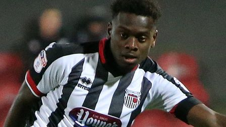 Norwich City youngster Diallang Jaiyesimi in action for Grimsby Town last season. Picture: GTFC.co.u