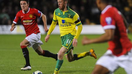 Sam Kelly in action for Norwich City U23s against Manchester United at Carrow Road in 2015. Picture:
