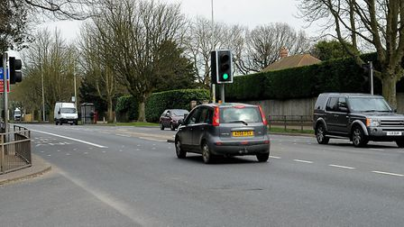 The Newmarket Road junction with Leopold Road, which council officers were contemplating closing. Pi