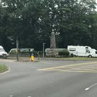 Travellers had set up camp at the Roundwell Monument site in Costessey yesterday, but had moved on b