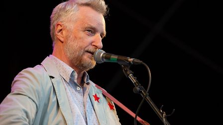 Billy Bragg performed supporting headliners at Forest Live in Thetford. Picture: LEE BLANCHFLOWER