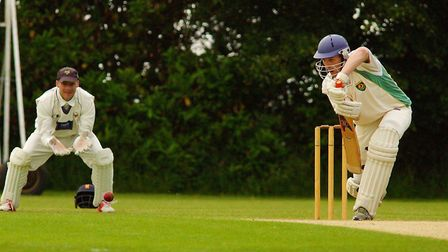 James Page in action for Great Witchingham during their comfortable win over Vauxhall Mallards at Ha