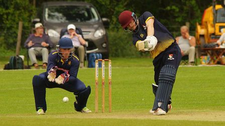Jordan Taylor on the offensive for Norfolk during their match against Shropshire at Manor Park. Pict