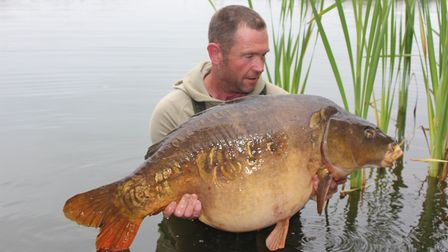 Ian Allan's 47lb mirror Picture: Nar Valley Fishery