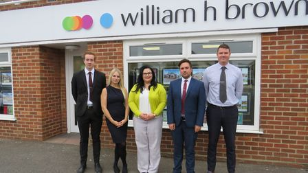 The William H Brown team at the Hellesdon office. Pic: www.williamhbrown.co.uk