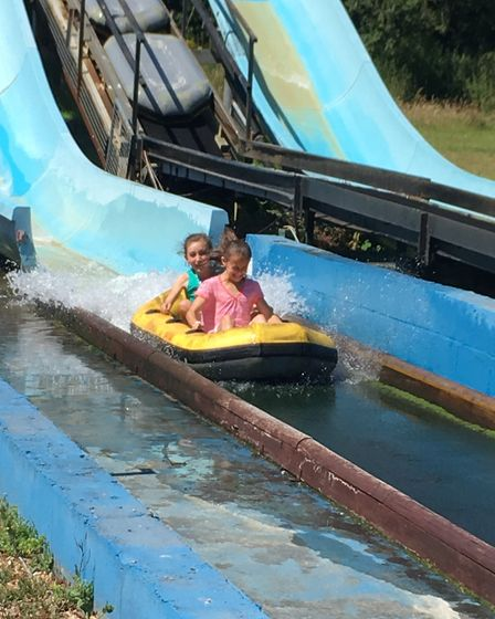 The older ones loved the water slide. Picture: contributed