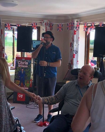 Chris Wilson performed live music at Swaffham nursing home Meadow House's summer fete. Picture: Supp